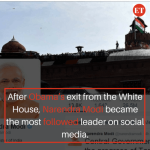 After Obama's exit from the White House, Narendra Modi became the most followed leader on social media.
