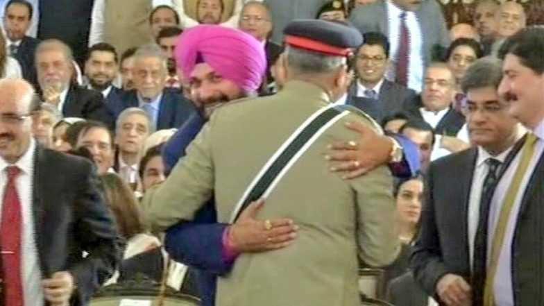 Siddhu hugs Bajwa