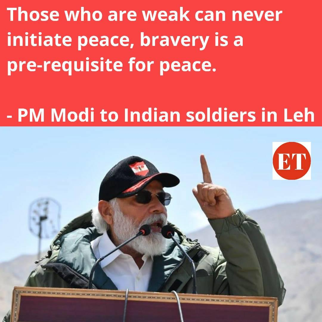 weak can never initiate peace - PM Modi